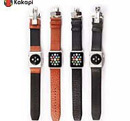 Kakapi Double Buckle Buffalo Hide Watchband Sport With the connector for Apple iWatch 38/42mm  Assorted Colors