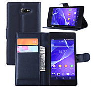 Embossed Card Wallet Cover For Bracket Sony Sony Xperia M2 AQUA Mobile Phone
