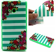 For Nokia Case Ultra-thin Case Back Cover Case Lines / Waves Soft TPU Nokia Nokia Lumia 535