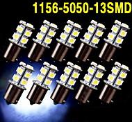 10 x weiß 1156 BA15S 13-SMD 5050 LED Glühbirnen Blinker Backup Reverse 12v