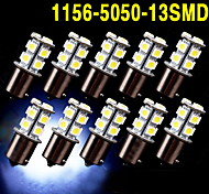 10 x blanco 1156 BA15S 13 SMD 5050 llevó bombillas convierten respaldo señal 12v inversa