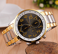 Men's Women's Unisex Fashion Watch Quartz Alloy Band Vintage Gold
