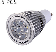 5 Pcs GU10 9 W 7 x 3030 SMD 850 LM Warm White / Cool White LED High Bright Spot Lights AC 85-265 V