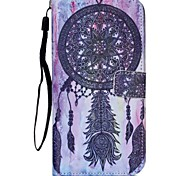 Black Wind Chimes Painted PU Phone Case for iphone5C