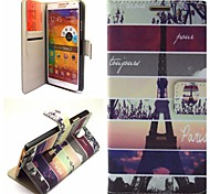 Eiffel Tower Pattern PU Leather Hard Case with Stand for Samsung Galaxy NOTE 3/NOTE 4