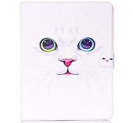 patrón de gato blanco Standoff funda protectora para el ipad 2/3/4