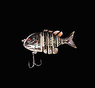 Esche rigide / Esca Esche rigide 5 g Oncia , 80 mm pollice 1 pc Pesca di mare , Marrone Plastica dura