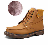 Men's Shoes Office & Career / Athletic / Casual Leather Boots Black / Yellow