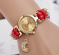 L.WEST Fashion High-end Diamonds Moon & Star Pendant Quartz Watch Cool Watches Unique Watches