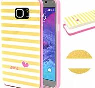 2-en-1 patrón de celosía blanca amarilla TPU + paragolpes pc estuche blando a prueba de golpes para Samsung nota 5