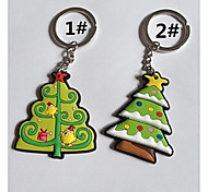 Christmas Tree Style Keychain with Soft Plastic Material(1pc)