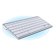 Teclado Wireless Slim Portátil de 81 Teclas Blanco Plata