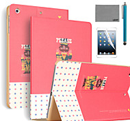 LEXY® Refuse Evil Pattern PU Leather Flip Stand Case with Screen Protector and Stylus for iPad Air 2/iPad 6