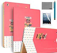 lexy® refuser le mal motif cas de stand PU cuir flip avec protecteur d'écran et un stylet pour iPad air 2 / ipad 6