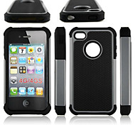 Hybrid Hard Case Armor Heavy Duty Hard Cover Shockproof For Apple iPhone 4/4S (Assorted Colors)
