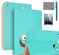 LEXY® Big Eyes Pattern PU Leather Flip Stand Case with Screen Protector and Stylus for iPad Air 2/iPad 6