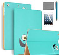 lexy® grands yeux modèle PU cuir flip reposer cas avec protecteur d'écran et un stylet pour iPad air 2 / ipad 6
