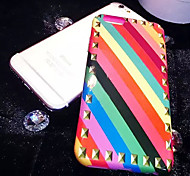 lady®phone caso / cubierta para el iphone 6 / 6s (4.7), multi-color de teléfono y decorado con diamantes, material de silicona