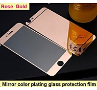 Mirror color plating anti explosion glass protection film (Rose Gold)(front and back) for iPhone 6/iPhone 6S