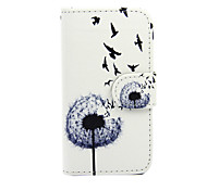 For Nokia Case Wallet / Card Holder / with Stand Case Full Body Case Dandelion Hard PU Leather Nokia Nokia Lumia 630