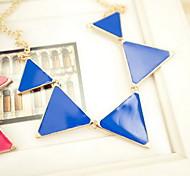 Triangle Pendant Chain Choker Necklace Women Jewelry