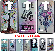 New Arrival 15 Design For G3 Brand Ultra Thin Cartoon Pattern Matte Hard Back Case for LG G3 Cell Phone Protective Cover