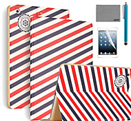 LEXY® Voyager Pattern PU Leather Flip Stand Case with Screen Protector and Stylus for iPad Air 2/iPad 6