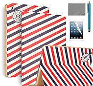 lexy® motif de voyager PU cuir flip reposer cas avec protecteur d'écran et un stylet pour iPad air 2 / ipad 6