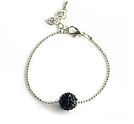 Europestyle Fashion Crystal Round Bur Alloy Bracelet