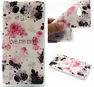 Ink Painting Rose Words Phrase Pattern 0.6mm Ultra-Thin Soft Case for Lumia N540