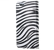 Zebra Stripes PU Leather Flip Case for iPhone 6/6S