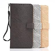 Zebramuster Brieftasche Schutzhülle für Samsung-Galaxie Anmerkung 5