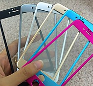 Titanium alloy Full Cover Arc Tempered Glass Screen Protector film for iPhone 6