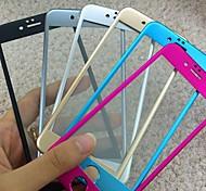 aleación de titanio cubierta completa del arco película del protector de pantalla de vidrio templado para el iphone 6