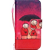 Loves Pattern PU Leather Material Flip Card Phone Case for iPhone 5/5S