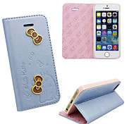 Iphone 5 PU leather cover Disney Hello Kitty Butterflies Blue with a free Headfore HD Screen Protector for iphone5