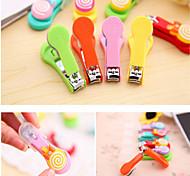 1PCS  Korean Cute Cartoon Lollipop Nail Clippers Random Color