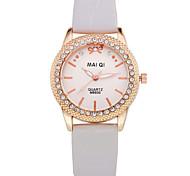Fashion Casual Women's Leather Band Quartz Wristwatches