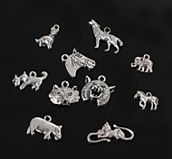 Beadia Antique Silver Metal Animal Charm Pendants DIY Jewelry Accessories