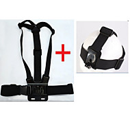 KingMa® Chest Body Band with Elastic Adjustable Head Strap Mount for Gopro Hero 4 3+ 3 2 1