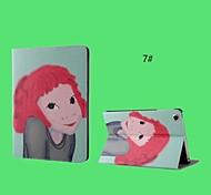 cartone animato ragazza cuoio dell'unità di elaborazione con il caso astuto del basamento per ipad 2/3/4 (corlors assortiti)