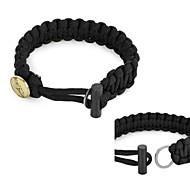 emergência sobrevivência pulseira de corda de pára-quedas ao ar livre com flintstone fogo kits / raspador - (preto / verde do exército /