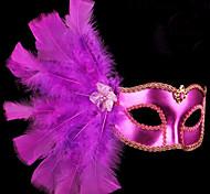 Venetian Masquerade Feather Headband Lace Mask Halloween Holiday party Christmas Gift idea