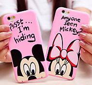 Heart Camera Design Cartoon Mouse Pattern Acrylic Soft Case for iPhone 6 6S