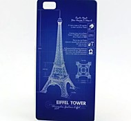 Back Cover Pattern Eiffel Tower TPU Soft Case Cover For Huawei Huawei P8 Lite