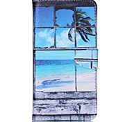 Sea Pattern PU Leather Case with Card Slot and Stand for Samsung Galaxy S4 mini/S3mini/S5mini/S3/S4/S5/S6/S6edge+