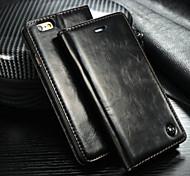 der Import von crazy horse Kartenlinien offen gelassen Magnet PU-Schutzhülle für iphone5 / 5s