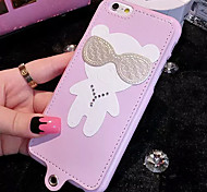 LADY®Cartoon Phone Case/Cover for iphone 6/6s, Decorated with PU Leather and Silica gel Material, More Colors Available