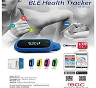 Bluetooth 4.0 relógio inteligente levou (rastreamento de movimento, etapas, tempo de atividade, média velocidade, distância, calorias, o