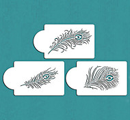 Peacock Feather Cake Stencil Set, Cake top Stencil, Flower Stencils for Decoration,ST-137